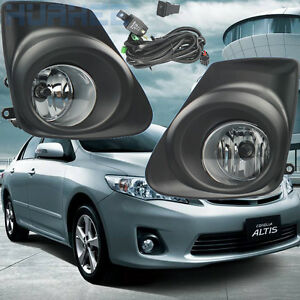 Front Bumper Fog Lamp Complete Kit For Toyota Corolla Altis 2011 2012 2013 1set