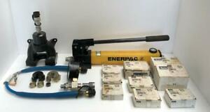 Parker Hydraulic Pre setting Tool Crimping Tool With Die Sets New