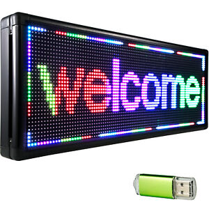 40 x15 Led Scrolling Sign Full Color Programable P10 Advertising Message Board