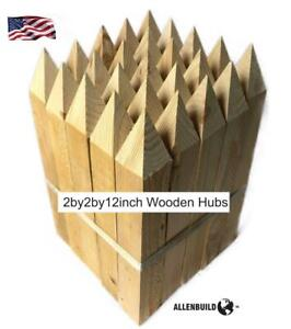 Wooden Survey Stakes Hubs 2by2by12 Construction Sites Land Survey Allenbuild
