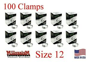 100pcs Ideal Hose Clamps Size 12 13 32mm 1 2 To 1 1 4 Made In Usa 52120