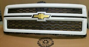 Oem 2014 2015 Chevrolet Silverado 1500 Front Grille Grill 22757223 Summit White
