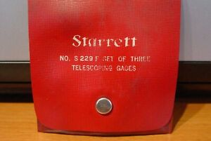 L s Starrett Telescoping Gages Set Of Three S229f Used In Plastic Case