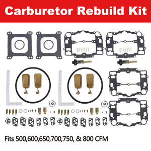 Set Of 2 Carburetor Rebuild Kit Fit For Edelbrock 1477 1400 1404 1405 1804 1407