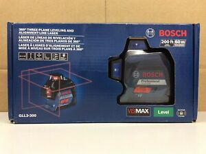 Bosch Gll3 300 200ft 360 Three plane Leveling Alignment line Laser