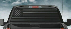 Usa American Flag Rear Window Vinyl Decal Suv Silverado Dodge Ram Ford 23x70