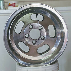 E T 15x8 5 Polished 5 Slot Uni Lug Wheel Changeable Bolt Pattern