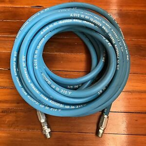 50ft 3 8 4000psi Blue Non marking Pressure Washer Hose flexible new