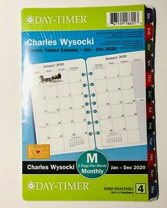 Day timer Charles Wysocki 2020 Tabbed Monthly Planner 8 5x5 5 Refill Size 4