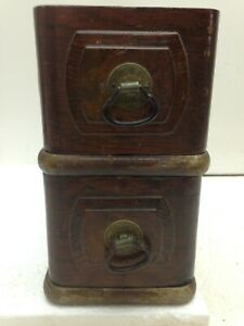 2 Vtg Standard Treadle Sewing Machine Drawers With Frame Brass Pulls Repurpose
