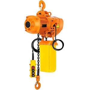 0 5 Ton Electric Chain Hoist 1 Phase 110v 10ft Building Anti rust 1100lbs