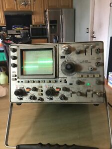 Tektronix 485 Oscilloscope Working cleaning
