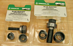 Greenlee Slug Buster Round Punch Set Size 1 2 And 3 4