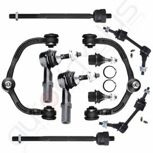 For 03 04 Ford Expedition Steering 10pc Complete Front Control Arm Tie Rod Kit