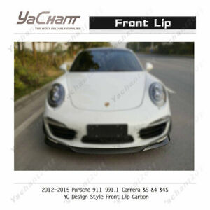 Carbon Splitter For 12 15 Porsche 911 991 1 Carrera s 4 4s Yc Design Front Lip