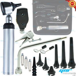 Human Veterinary Ent Medical Otoscope Opthalmoscope Set Diagnostic Kit Led