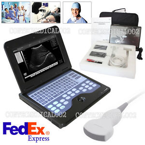 Usa Fedex contec Cms600p2 Ultrasound Scanner Laptop Machine 3 5mhz Convex Probe