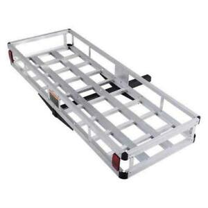 High Quality Aluminum Hitch Mount Cargo Carrier Truck Luggage Basket 500lbs