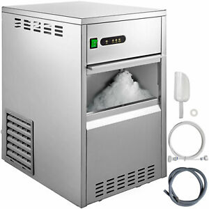 Snow Flake Ice Maker 88lbs 40kg 304 Stainless Steel Food Grade Abs Low Noise