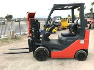 2007 Toyota 8fgcu20 Forklift 2 Stage Truckers Mast W Side Shift