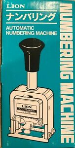Lion Pro line Heavy duty Automatic Numbering Machine 6 wheel Roman Free Shipping