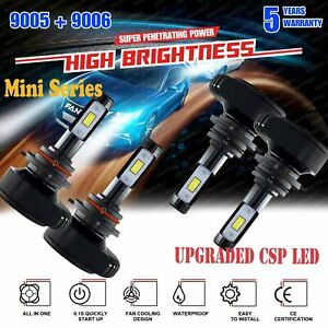 9005 9006 Csp Led Headlights For Chevrolet Silverado1500 2500 Hd 2001 2006 7200w