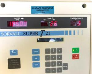 Sorvall Super t21 Refrigerated Benchtop Centrifuge Sorvall Sl 50t Rotor 7593