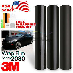 Genuine 3m 2080 Black Vinyl Vehicle Wrap Car Sticker Film Decal Bubble Free