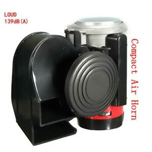 139db Air Horn Snail Compact Loud Alarm Kit For Car Truck Vehicle Motorcycle Suv