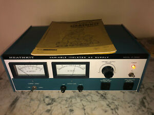 Heathkit Model Ip 5220 Variable Isolated Ac Power Supply Mint With Manual
