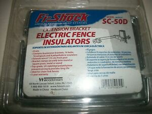 Fi shock Sc 50d Extension Bracket Electric Fence Insulators 8 Sets New