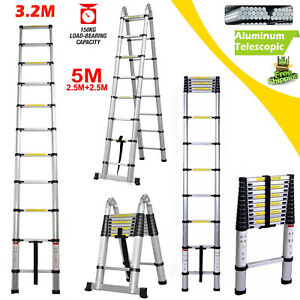 16 5ft 10 5ft Stair Ladder Telescopic Folding Extendable Lightweight Heavy Duty