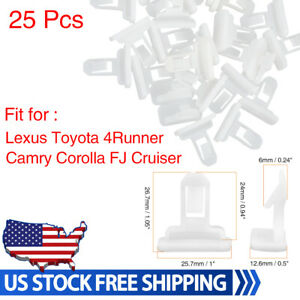 25 Pcs White Front Rear Spoiler Moulding Clips 75392 35220 For Toyota Lexus