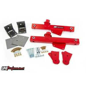Umi 102620 r 99 04 Mustang Stage 1 Strip Grip Kit Lift Bars Red