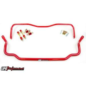 Umi 303534 R 78 88 G Body Solid Front Rear Sway Bar Kit Red