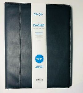 Blue Sky Faux Leather Padfolio 2020 Weekly monthly Organizer 10x12 75 Planner
