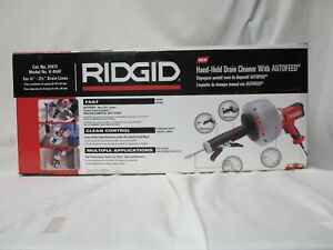 Ridgid K 45af Hand Held Drain Cleaner With Autofeed New