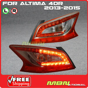 For 2013 2015 Altima Teana Jdm Style Led Tail Lights Rear Brake Lamp Plug N Play