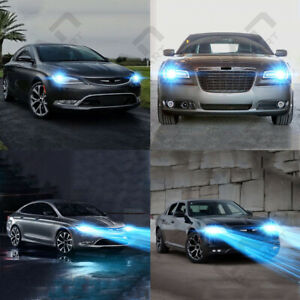 For Chrysler 200 300 2011 2015 2pc 8000k Led Headlight Kit High low Beam Bulbs