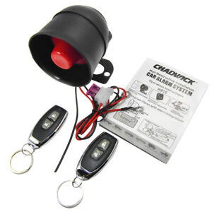 Car Vehicle Burglar Protection System Alarm Security 2 Remote Control Universal