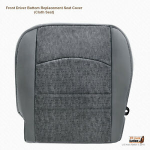 2013 2014 2015 2016 Dodge Ram 1500 Slt driver Side Bottom Cloth Seat Cover Gray