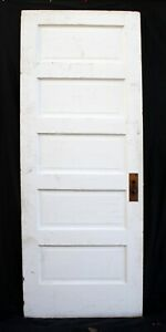 2 Available 30 X77 Antique Vintage Old Solid Wood Wooden Interior Door 5 Panels