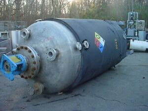 1450 Gallon 304 Stainless Steel Jacketed Reactor 50 Psi