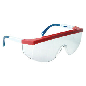 Radians Galaxy Red white blue Clear anti Fog Fit Over Safety Glasses Telescoping