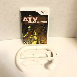 ATV Quad Kings (Nintendo Wii  2009) Pre-owned With Steering Wheel Game