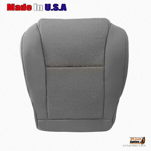 For 2009 To 2015 Toyota Tacoma Driver Bottom Cloth Seat Replacement Cover Gray