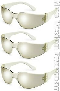 3 Pair pack Radians Mirage Indoor outdoor Clear Mirror Safety Glasses Sun Z87