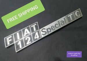 Vintage Fiat 124 Special Tc Emblem Oem Asap Free Shipping