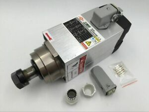 Er20 Air Cooled Square Spindle Motor 1 5kw Cnc Woodworking 18000rpm Ac 220v