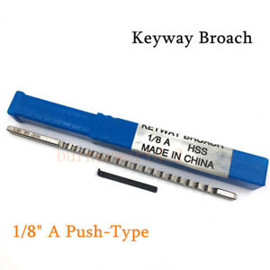 1 8 A Push type Keyway Broach Inch Sized Hss Cutting Tool For Cnc Machine